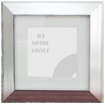 Encadrement Vinyle Argent Large